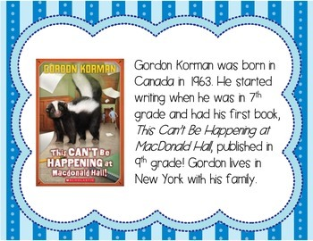 Gordon Korman Author Study