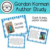 Gordon Korman Author Study