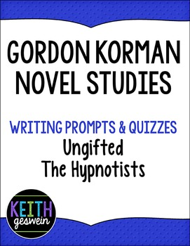 Gordon korman novel studies teaching resources teachers pay teachers gordon korman novel studies the hypnotists and ungifted fandeluxe Images