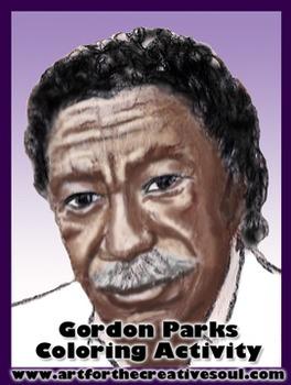 Gordon Parks Coloring Activity