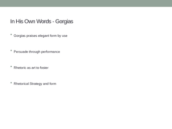 Gorgias Versus Plato