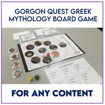 Gorgon Quest: Cooperative Greek Mythology Board Game BUNDLE