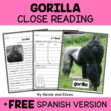 Gorilla Close Reading Passage Activities