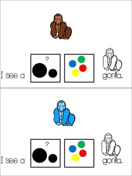 Gorilla Adapted Books: Count and Color, Color and Size