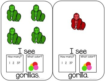 Gorilla Interactive Color and Counting Books