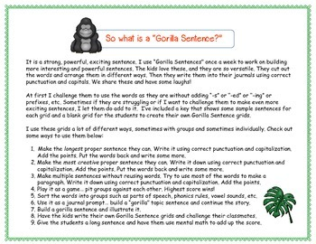 Build a Better Sentence (Writing, Language Center Activity, Daily 5) Weeks #6-10