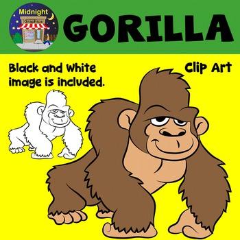 Gorilla Zoo Animals Clip Art