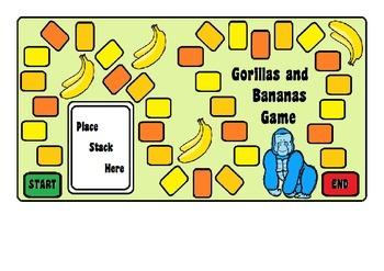Gorillas & Bananas Counting in Twos Game