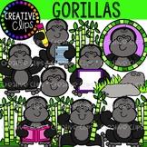 Gorillas Clipart {Creative Clips Clipart}