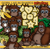 Gorillas in Shapes - Shapes Clip art