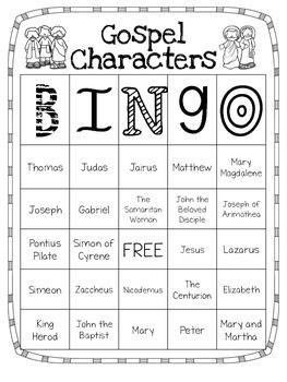 Gospel Characters Bingo