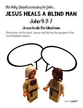 Gospel Companion Booklet: Jesus Heals a Blind Man