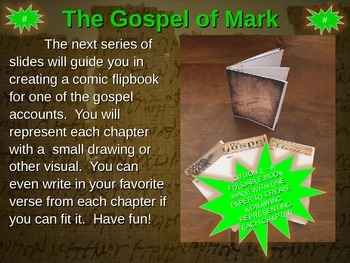 Gospel of Mark Comic Strip Template and Fold-able Template