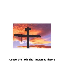 Gospel of Mark Cross Passion Theme