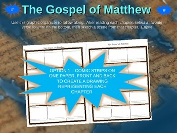 Gospel of Matthew Comic Strip Template and Fold-able Template