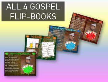 Gospel of Matthew-Mark-Luke-John Comics Template & Fold-ab