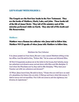 Gospels Lapbook