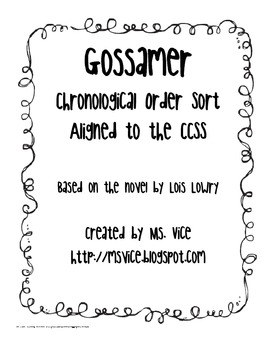 Gossamer Chronological Order Sort