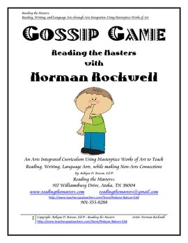 Gossip Game with Norman Rockwell