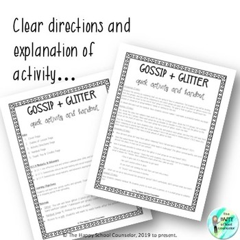 Gossip and Glitter: Quick Activity and Handout