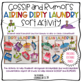 Gossip and Rumors Airing Dirty Laundry Sort