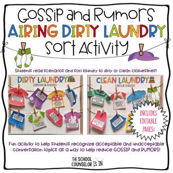 Gossip and Rumors Airing Dirty Laundry Sort