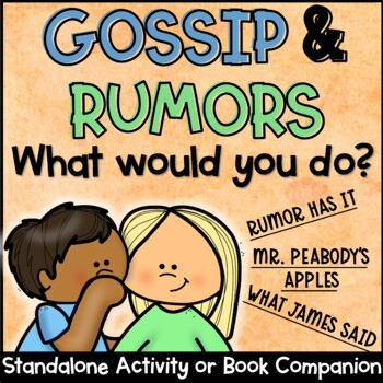 Gossip & Rumors Fan-N-Pick or Scoot Activity packet to be used with Gossip and Rumor Lesson plan