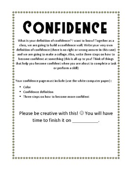 Got Confidence?! Poster Activity