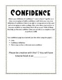 Got Confidence?! Poster Activity