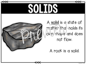 States of Matter:  Solids, Liquids, and Gases