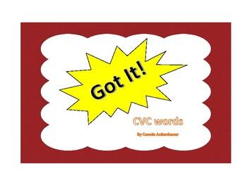Got It!  CVC words Phonics Game