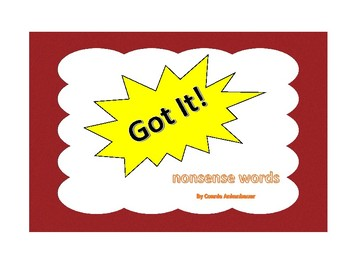 Got It! Nonsense Words Phonics Game