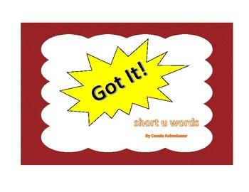 Got It! Short u Words Phonics Game