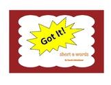 Got It! short e Words Phonics Game