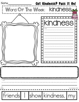 Got Kindness? Pass It On! Sentence Scrambler
