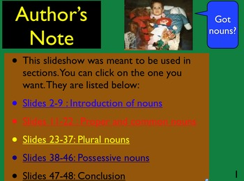 Got Nouns? Introduction and Practice of the world of nouns.