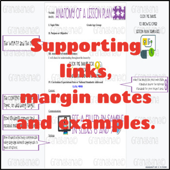 Got OBSERVATION Coming Up? Editable Template for Secondary Observations