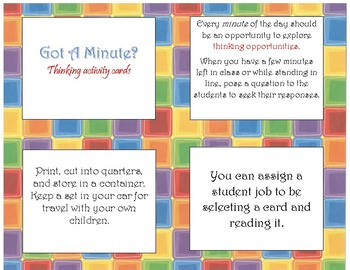 Transitional Thinking Cards