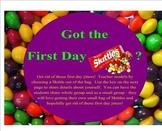 Got the First Day Skittles (Jitters)?  Ice breaker activit