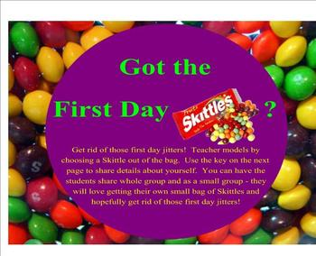 Got the First Day Skittles (Jitters)?  Ice breaker activit