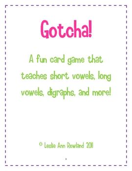 Gotcha! Word Card Game