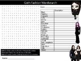 Goth Fashion Wordsearch Sheet Starter Activity Keywords Fabric Textiles Design