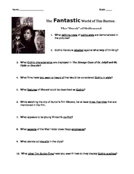 Goth Introduction Handout (pairs with Gothic Intro PowerPoint)