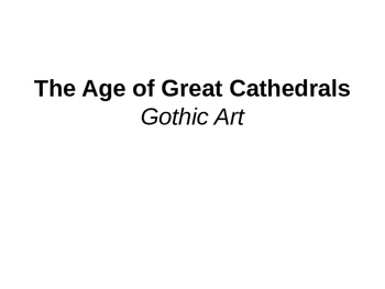 Gothic Art (chapter 18) Powerpoint
