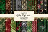 Gothic Christmas Digital Paper - Set 2