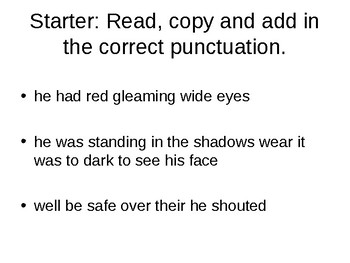 Gothic Creative Writing