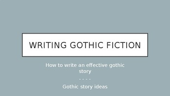 ideas for a gothic horror story
