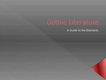 Gothic Literature: A Guide to the Elements