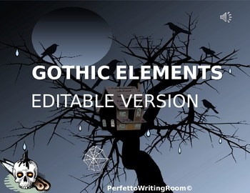 gothic literature: elements and motifs, editable version, Powerpoint templates