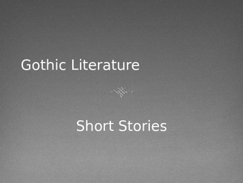 gothic literature/short story pptthe literature lab | tpt, Powerpoint templates